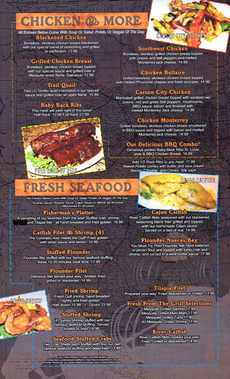 Menu - Bluefin - Downtown Memphis - 135 S Main St