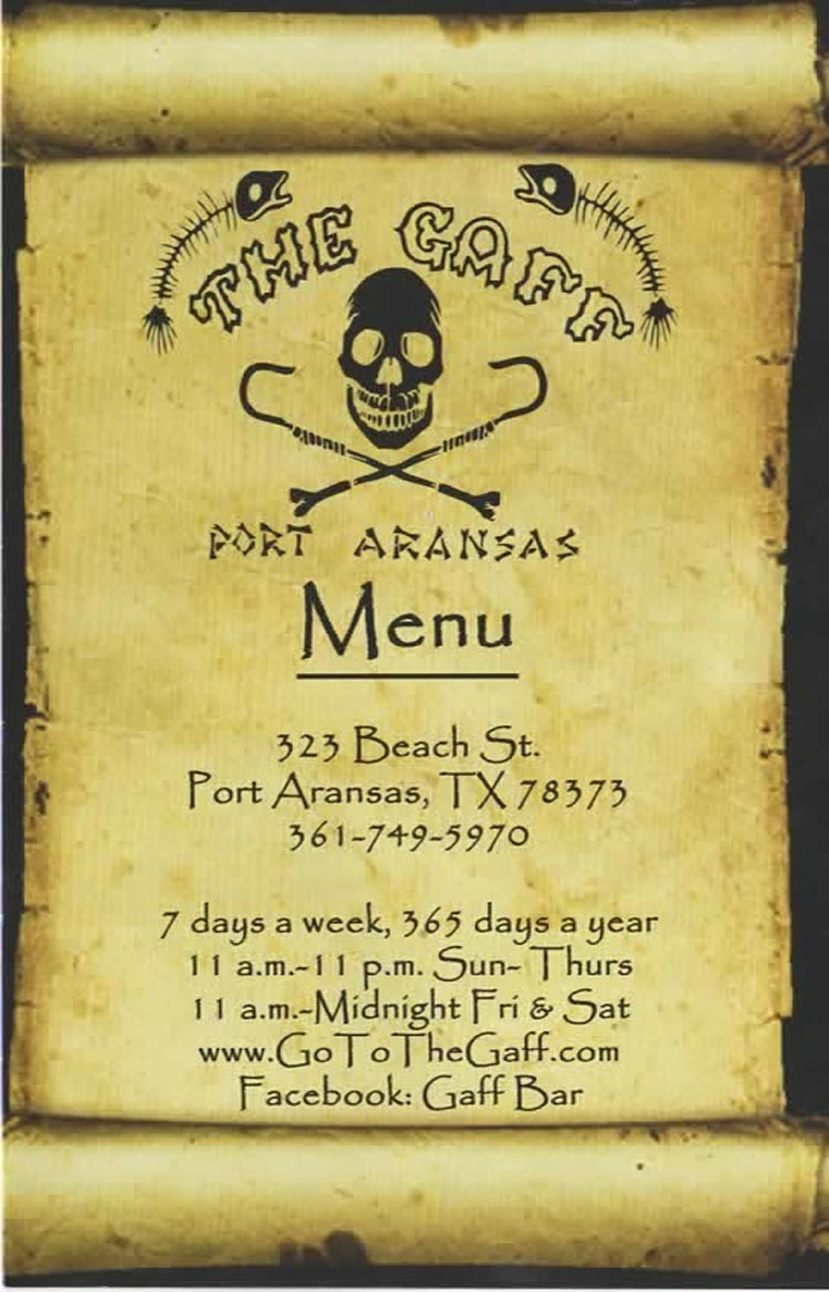 The Gaff In Port Aransas Texas
